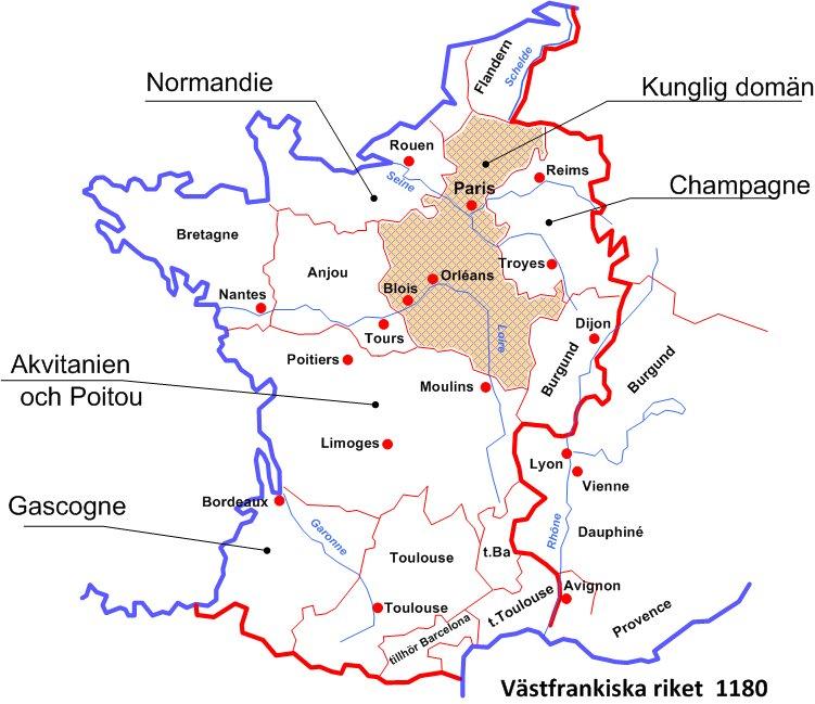 Karta Champagnedistriktet Frankrike.Svenska Numismatiska Foreningen Swedish Numismatic Society